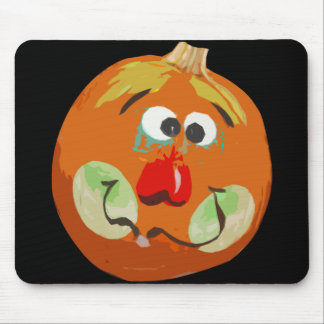 Halloween Funny Pumpkin Face Mouse Pad