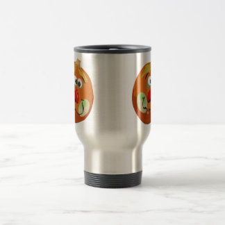 Halloween Funny Pumpkin Face Travel Mug