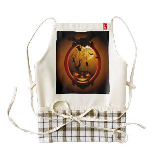 Halloween, funny pumpkin zazzle HEART apron