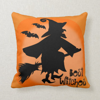 Halloween funny pun witches pillow