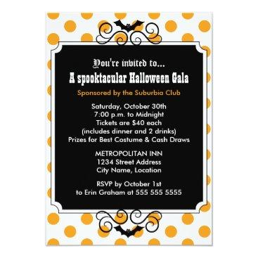 SocialiteDesigns Halloween Gala Party Invitation