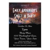 Halloween Galaxy Costume Sweet 16 Birthday Invitation