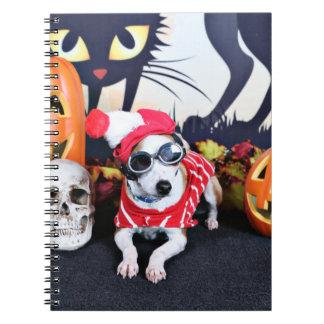 Halloween - galgo italiano - Waldo Libro De Apuntes