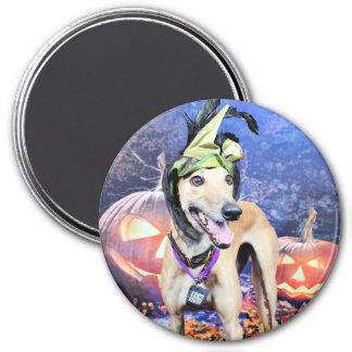 Halloween - galgo - Pena Imán De Nevera