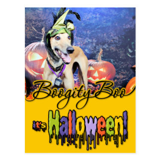 Halloween - galgo - Pena Tarjeta Postal