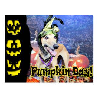 Halloween - galgo - Pena Postal