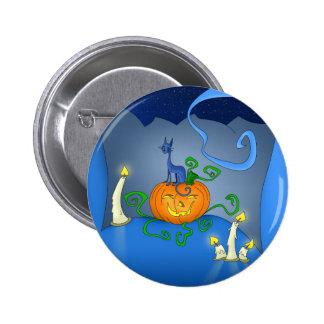 Halloween - gato en una calabaza - botones pins