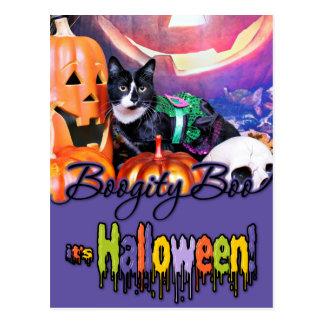 Halloween - gato - margarita postal