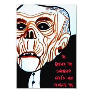 HALLOWEEN GEEVES THE CARETAKER invitation