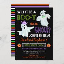 Halloween Gender Reveal Party Invitation