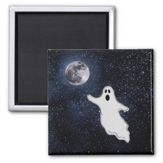 HALLOWEEN GHOST ~ 2 INCH SQUARE MAGNET
