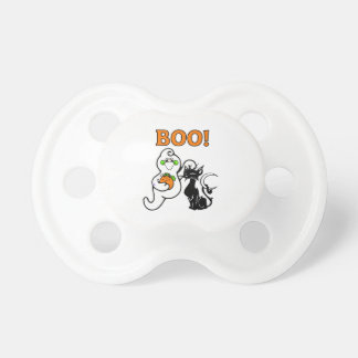 Halloween Ghost and Black Cat Pacifier