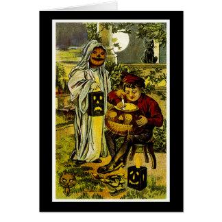 Halloween Ghost and Jack-o-Lantern Card
