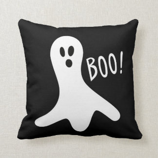 Halloween Ghost And Witch Double Side Throw Pillow