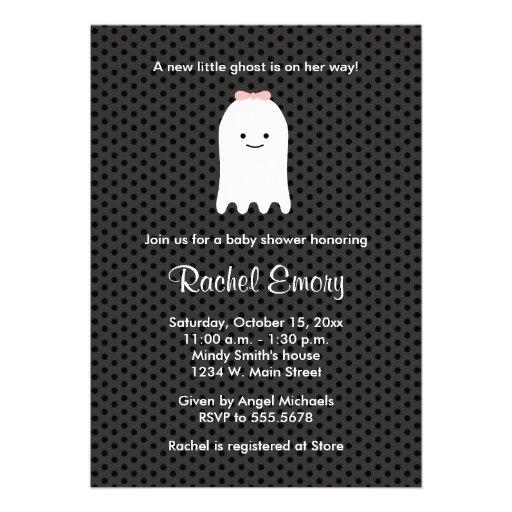 Halloween Ghost Baby Shower Invitations