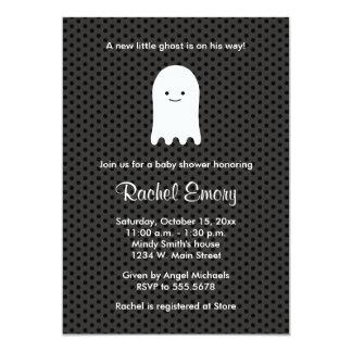 Halloween Ghost Baby Shower Polka Dot Invitations