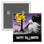Halloween Ghost Bats 10% Off Sale 2 Inch Square Button