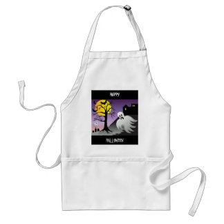 Halloween Ghost Bats 10% Off Sale Adult Apron
