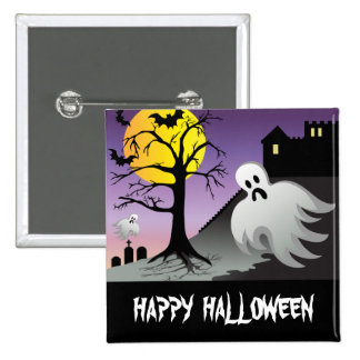Halloween Ghost Bats 10% Off Sale Pinback Button