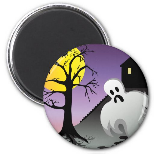 Halloween Ghost Bats 10% Off Sale Refrigerator Magnet
