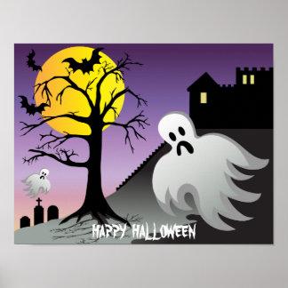 Halloween Ghost Bats 10% Off Sale Poster