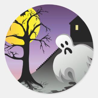 Halloween Ghost Bats 10% Off Sale Round Stickers