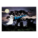 Halloween, Ghost, Bats, Scary Night, Boo Card