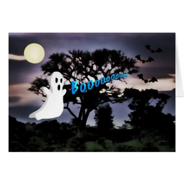 Halloween Themed Halloween, Ghost, Bats, Scary Night, Boo Card