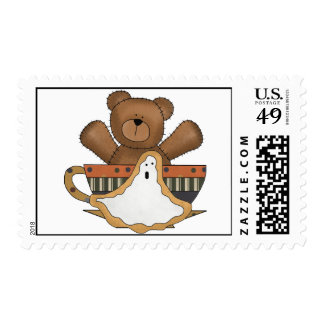 Halloween Ghost Bear Stamps