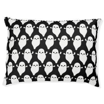 Halloween Themed Halloween Ghost Boo Boo Pattern Art Pet Bed
