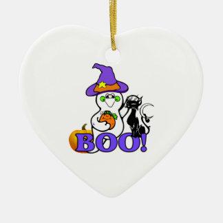 Halloween Ghost Boo Ceramic Ornament