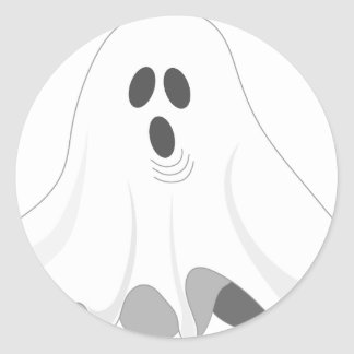 Halloween Ghost - BOO! Classic Round Sticker