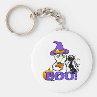 Halloween Ghost Boo Key Chain