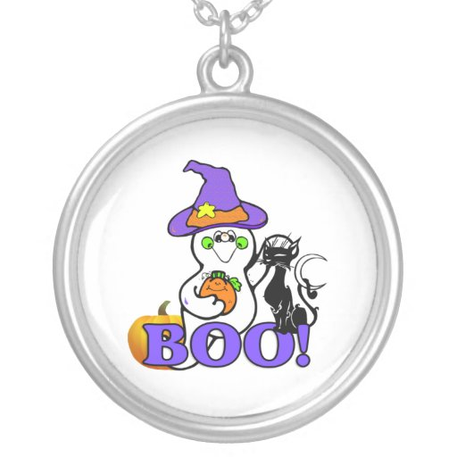 Halloween Ghost Boo Personalized Necklace