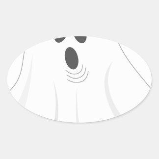 Halloween Ghost - BOO! Oval Sticker