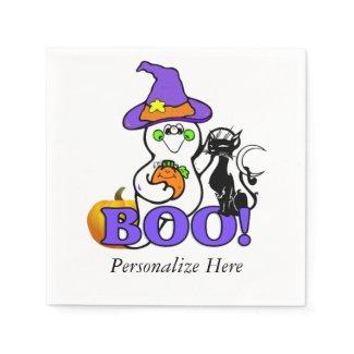 Halloween Ghost Boo Paper Napkins