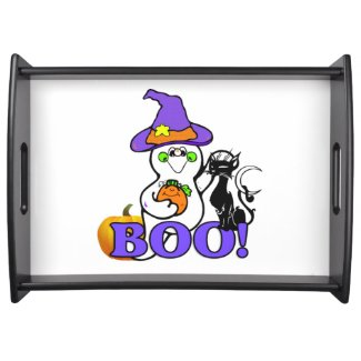 Halloween Ghost Boo Serving Trays