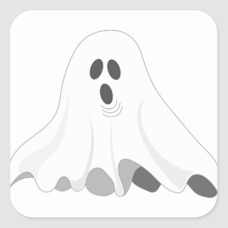 Halloween Ghost - BOO! Square Sticker