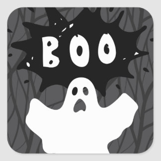 Halloween Ghost BOO! Stickers