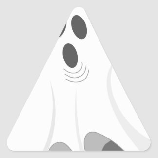 Halloween Ghost - BOO! Triangle Sticker