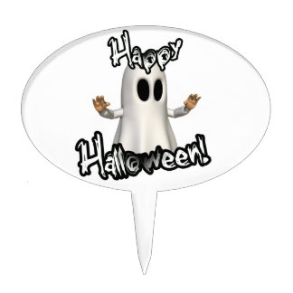Halloween Ghost Oval Cake Picks