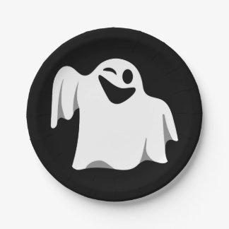 Halloween Ghost Cartoon Illustration 09 Paper Plate
