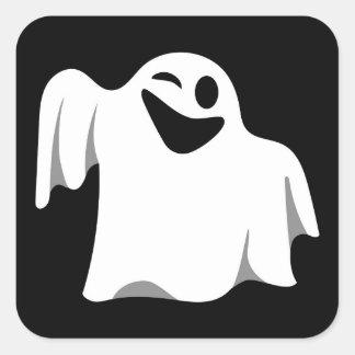 Halloween Ghost Cartoon Illustration 09 Square Sticker