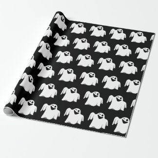 Halloween Ghost Cartoon Illustration 09 Wrapping Paper