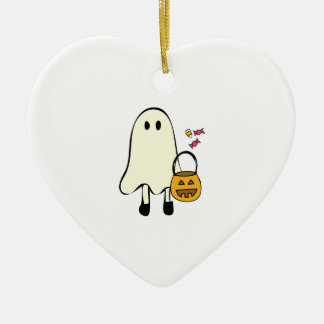Halloween Ghost Ceramic Ornament