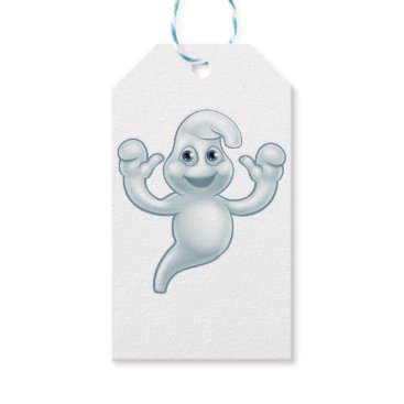Halloween Themed Halloween Ghost Cute Cartoon Character Gift Tags