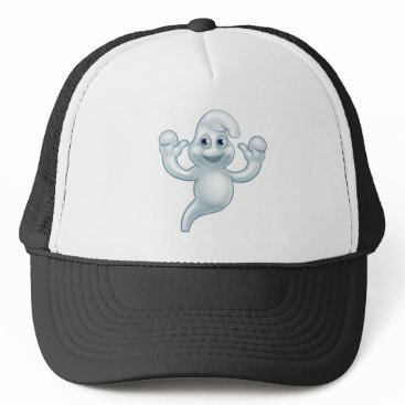 Halloween Themed Halloween Ghost Cute Cartoon Character Trucker Hat