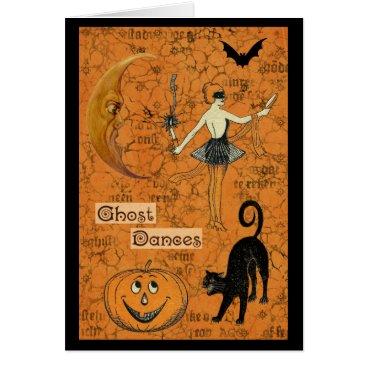 Halloween Themed Halloween Ghost Dances Scary Moon Card