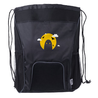 Halloween ghost drawstring backpack
