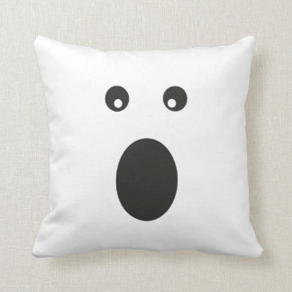Halloween Ghost Face Spooky Square Pillow